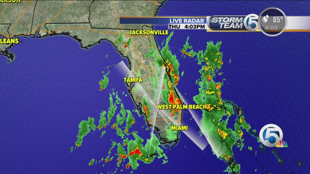 4 P.m. Thursday Weather Forecast For South Florida - Youtube - Florida Weather Map Today