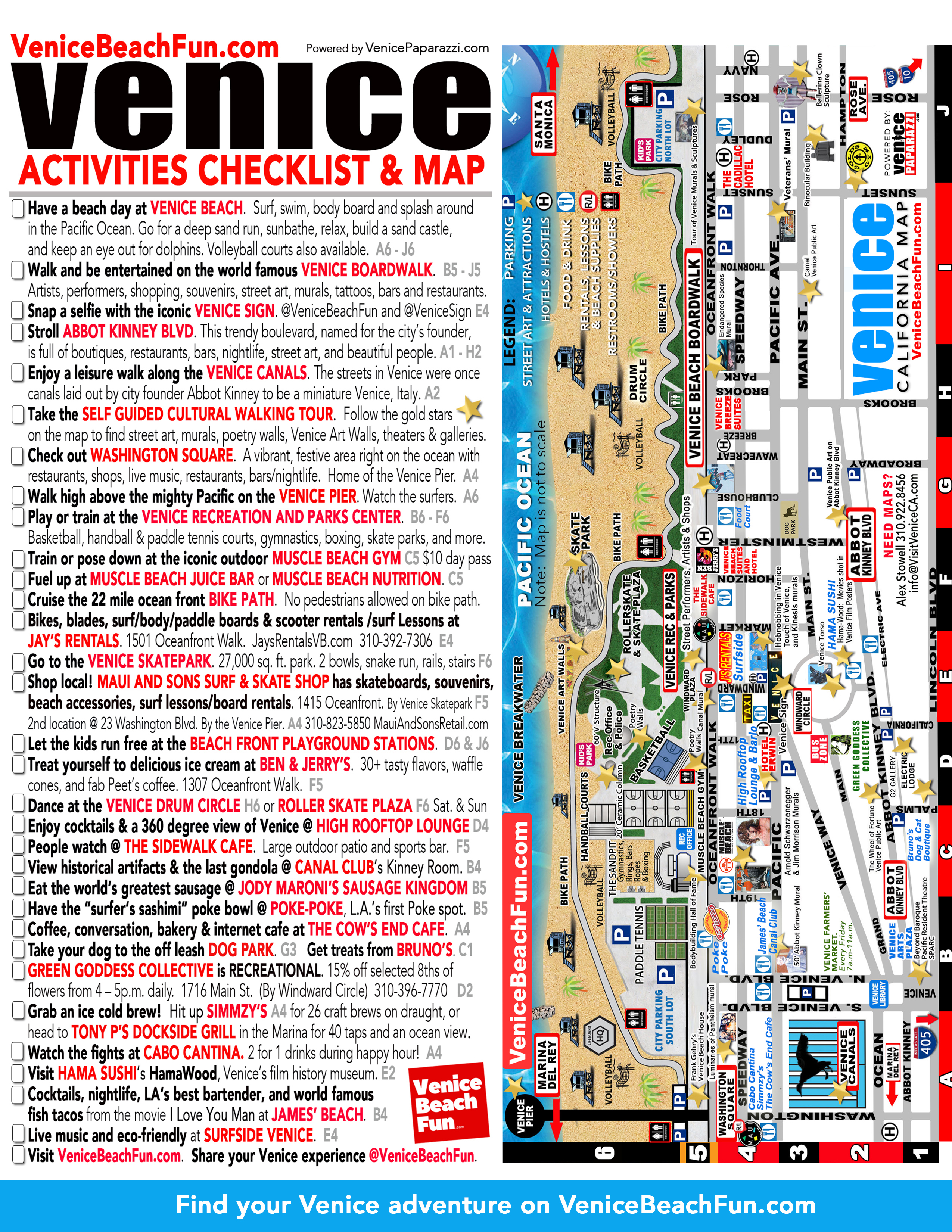 50+ Fun Things To Do In Venice, Ca - Map Of Venice California Area