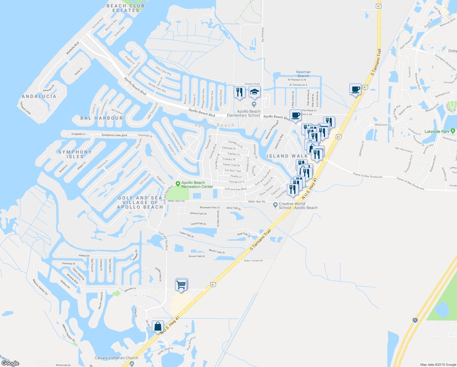 532 Florida Circle South, Apollo Beach Fl - Walk Score - Map Of Florida Showing Apollo Beach