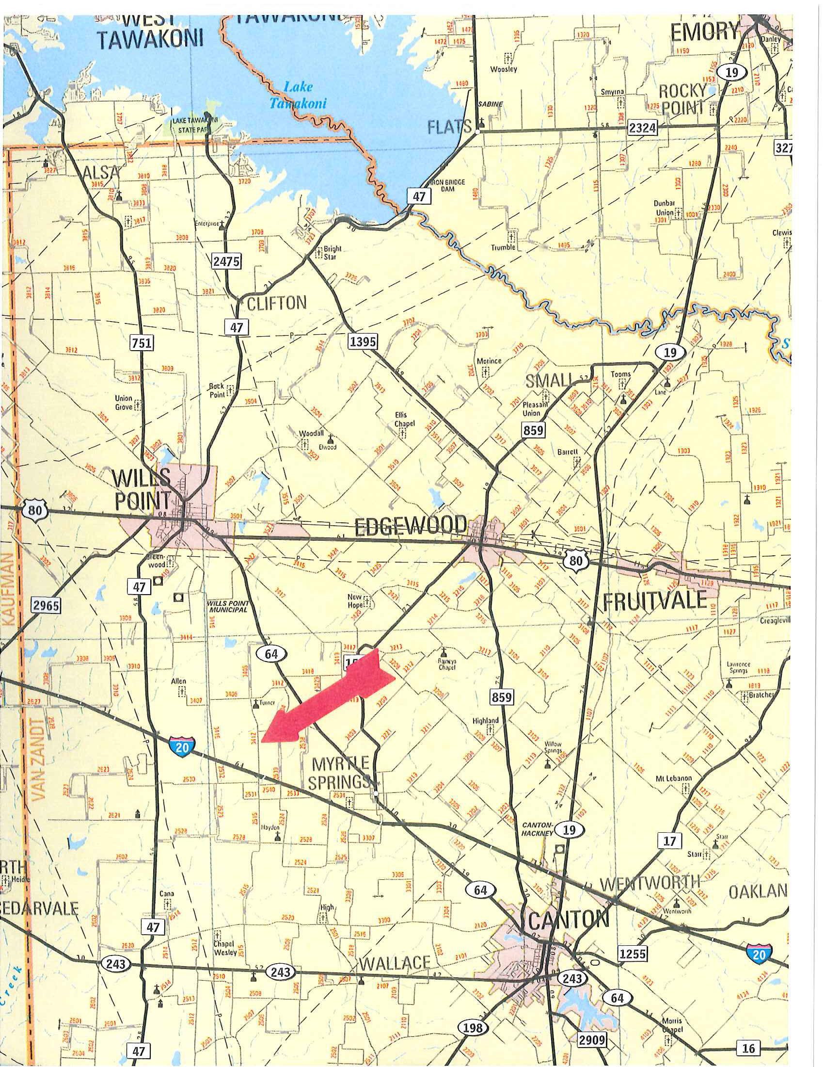 54 Acres In Van Zandt County, Texas - Van Zandt County Texas Map