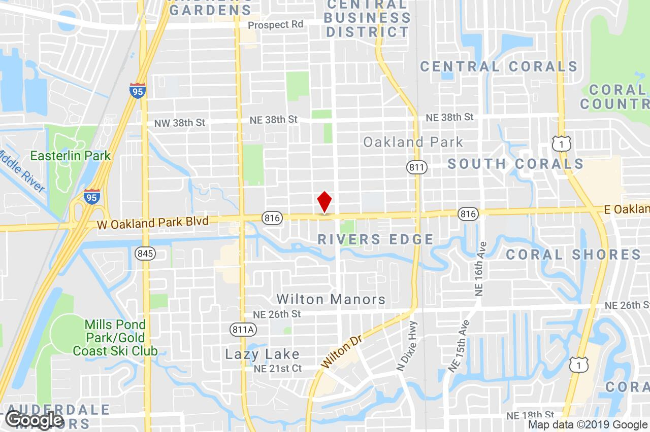 547 East Oakland Park Blvd, Oakland Park, Fl, 33311 - Vehicle - Oakland Park Florida Map