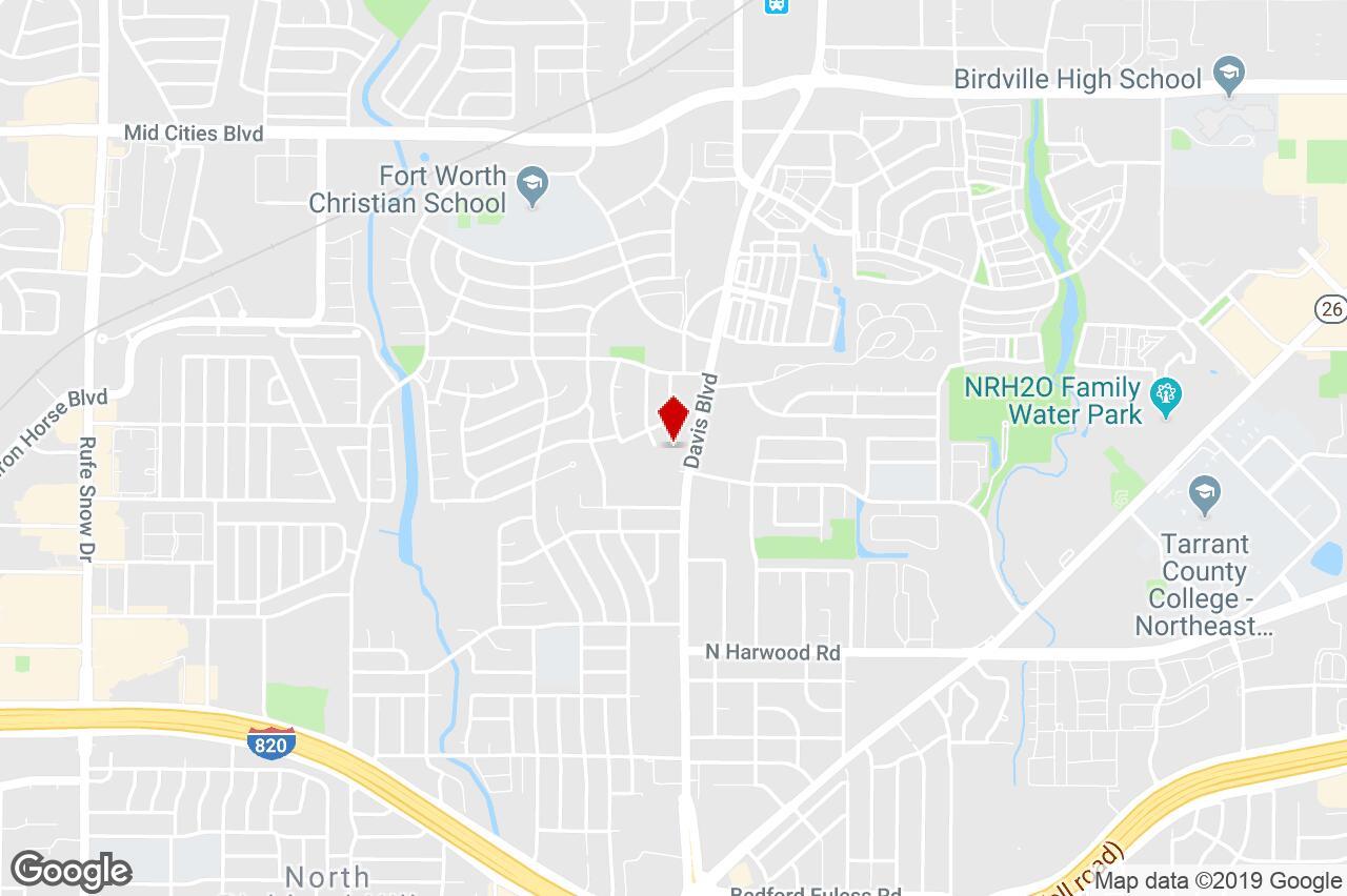 5587 Davis Blvd, North Richland Hills, Tx, 76180 - Property For - Richland Hills Texas Map