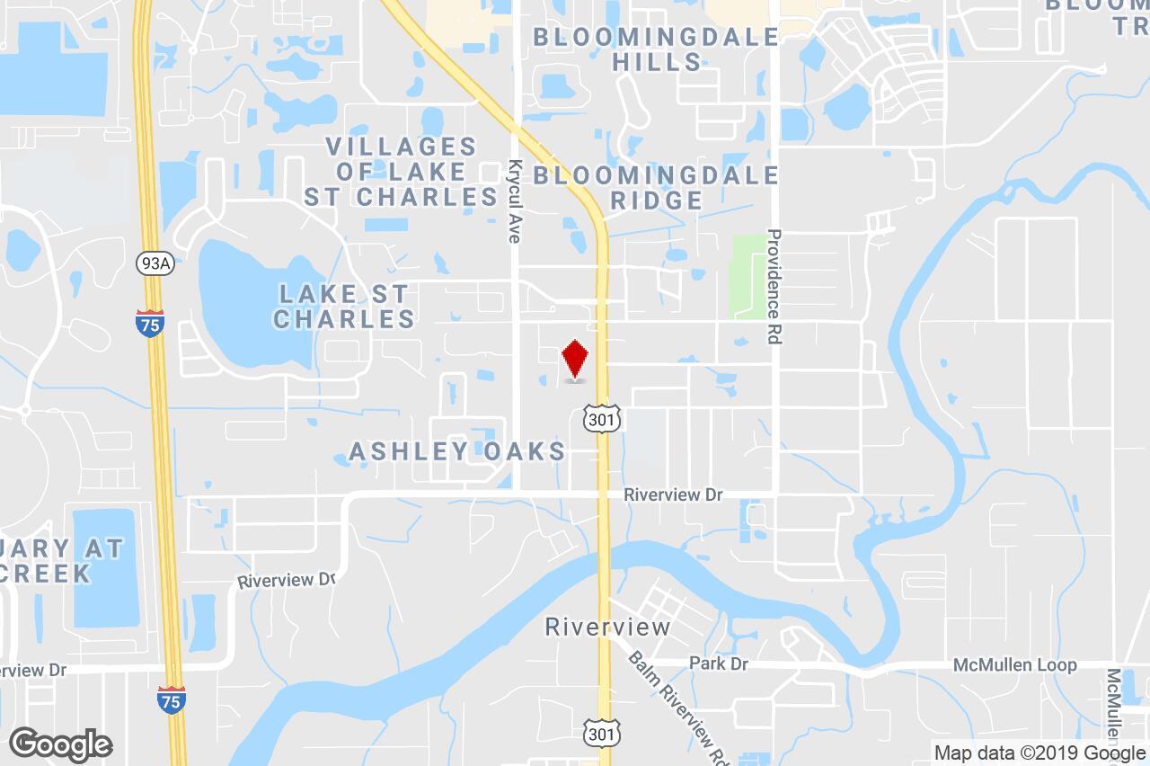 7201 Us Highway 301 S., Riverview, Fl, 33569 - Self/mini-Storage - Riverview Florida Map