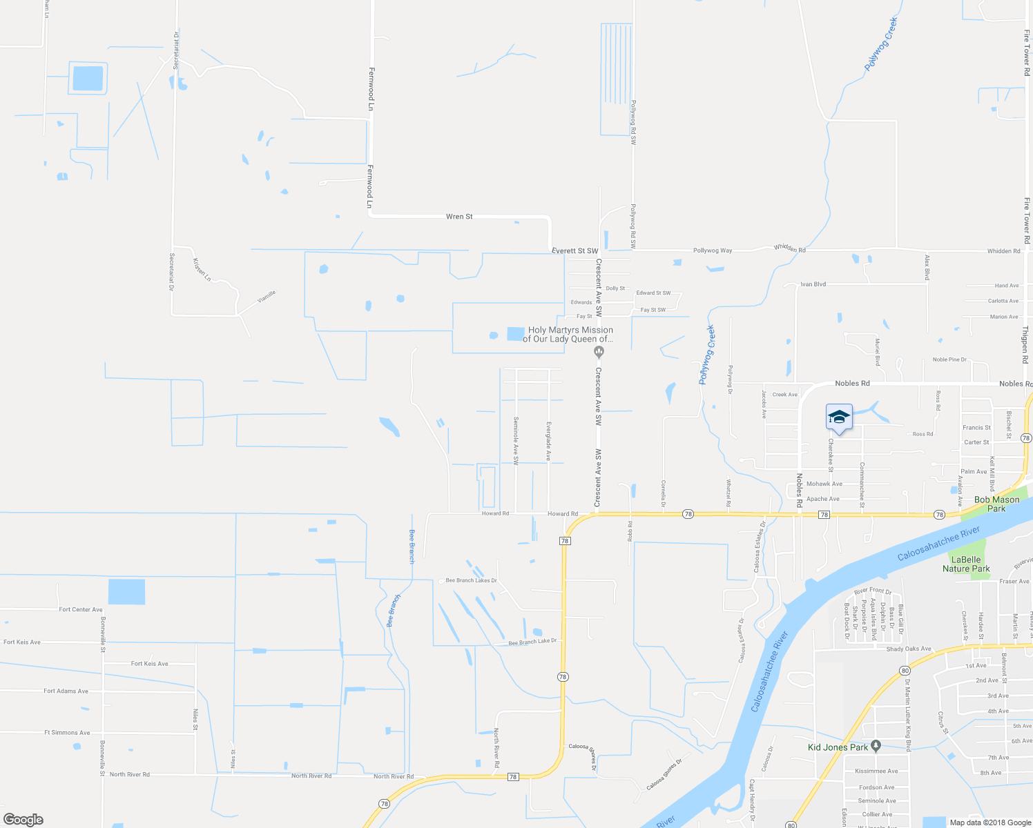 790 Seminole Avenue Southwest, Labelle Fl - Walk Score - Labelle Florida Map
