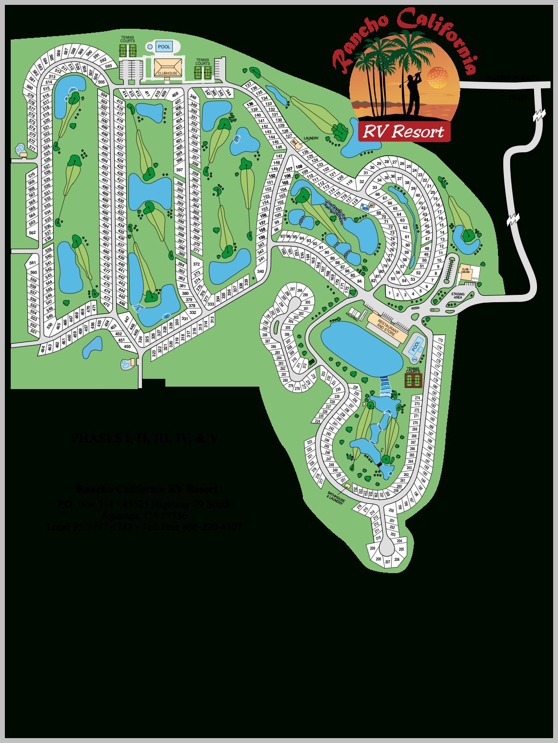 8. Resort Map - Rancho California Rv Resort Site Map
