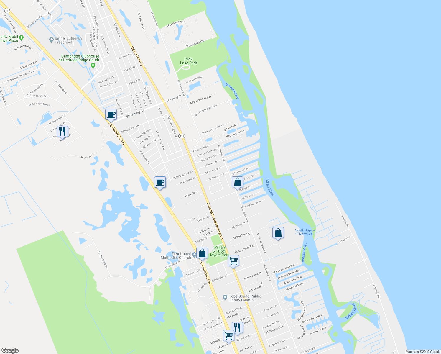 8202 Southeast Shiloh Terrace, Hobe Sound Fl - Walk Score - Hobe Sound Florida Map
