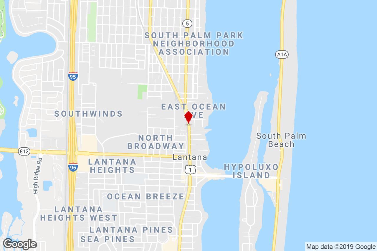 822 N. Dixie Hwy, Lantana, Fl, 33462 - Neighborhood Center Property - Lantana Florida Map