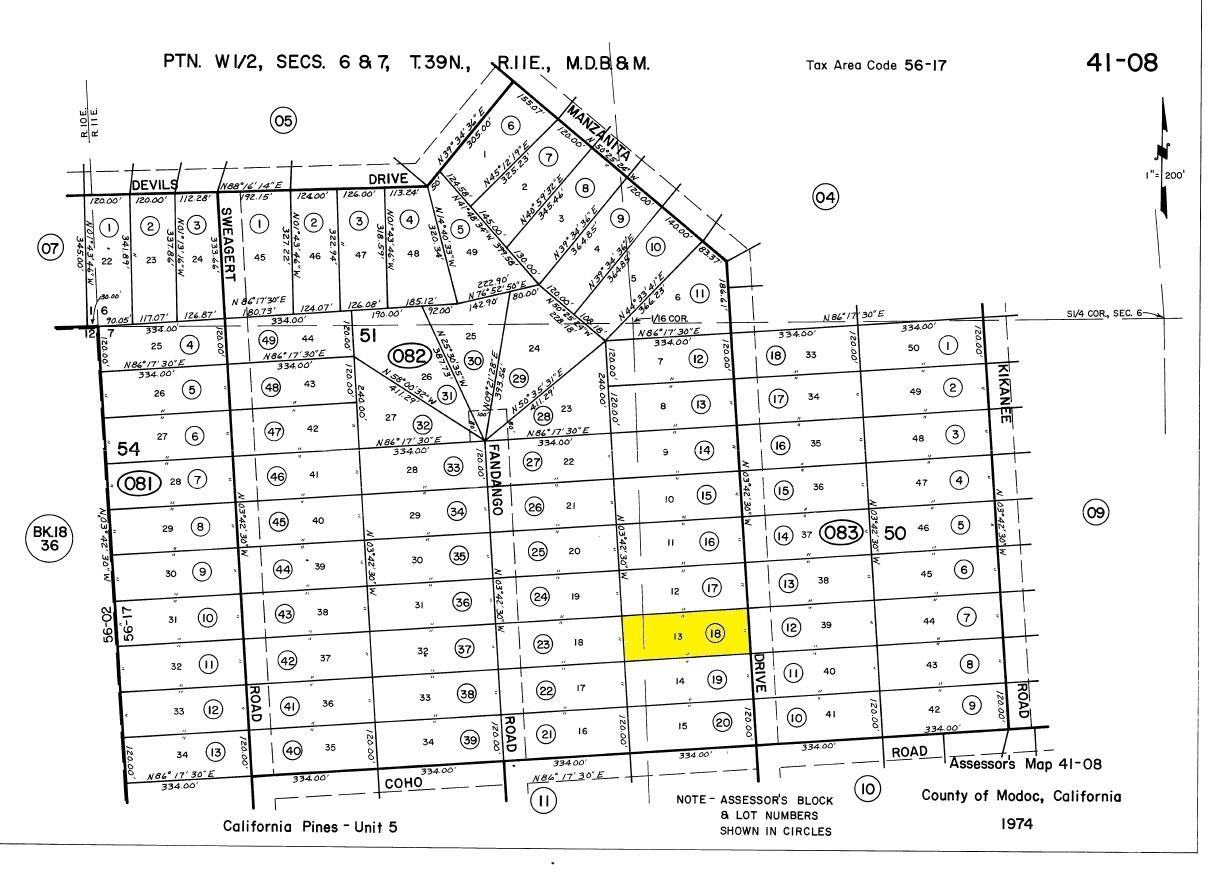 92 Acre California Pines, Modoc : Land For Saleowner - California Pines Parcel Map
