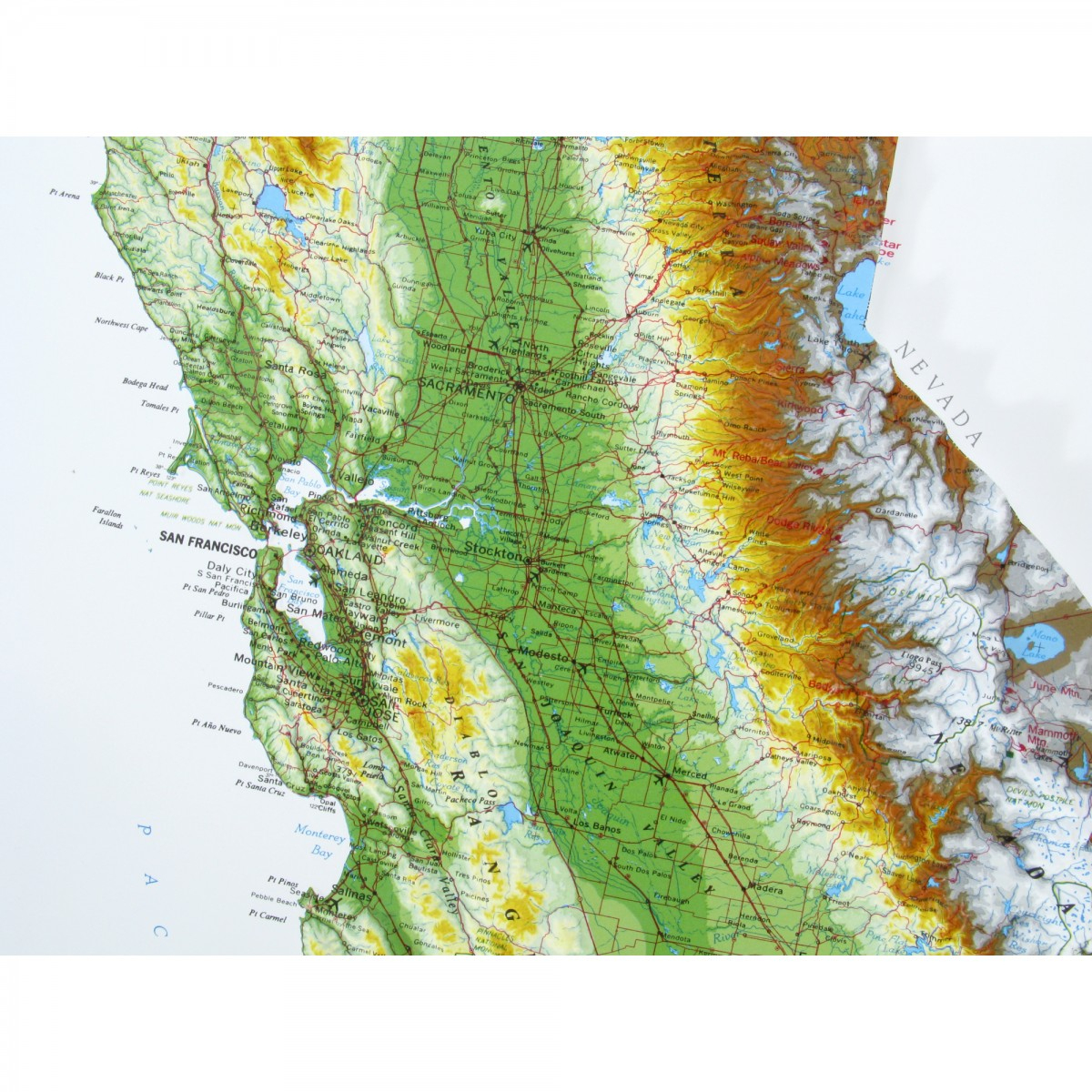 951 - California Raised Relief Map - California Raised Relief Map