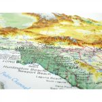 951   California Raised Relief Map   California Raised Relief Map