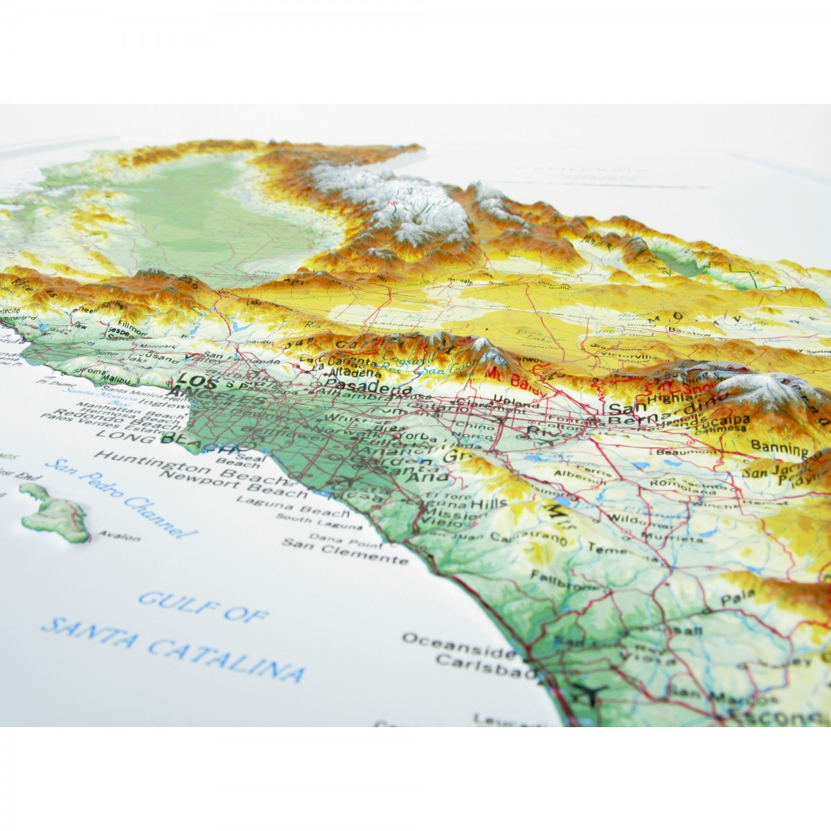951 - California Raised Relief Map - California Relief Map