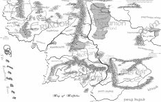 97+ Hi Res Map Of Middle Earth 2400X2424 X Post From R Lotr Mapporn – Printable Map Of Middle Earth
