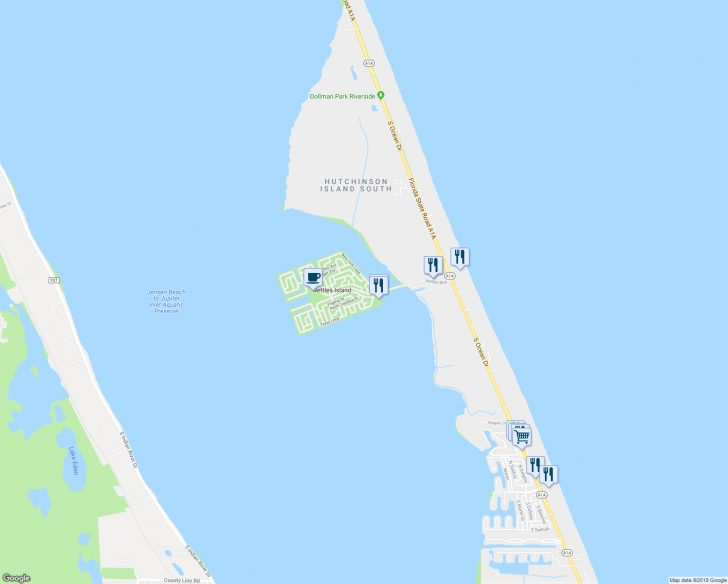 Hutchinson Island Florida Map