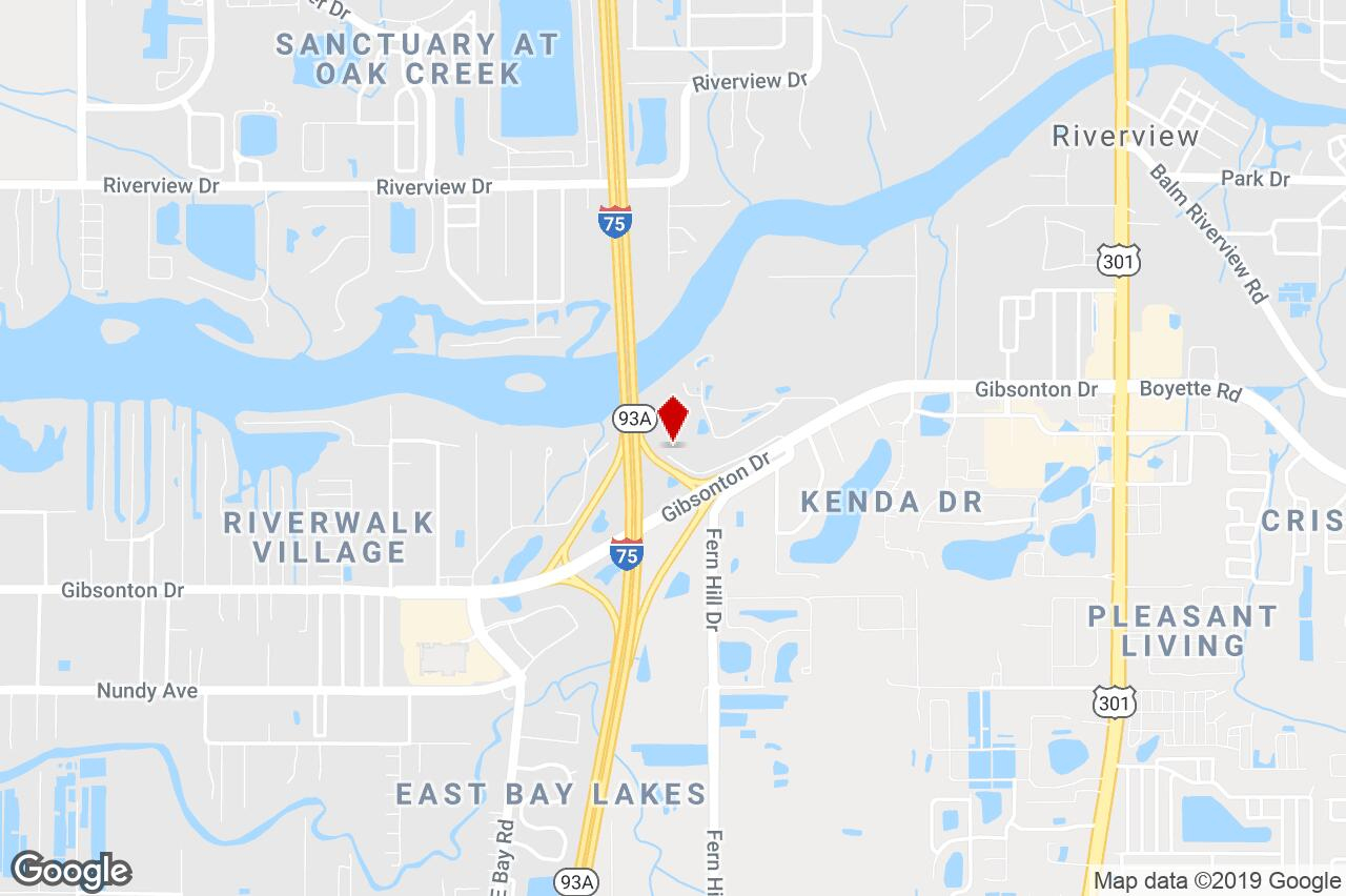 9808 Gibsonton Drive, Riverview, Fl, 33569 - Commercial/other (Land - Riverview Florida Map