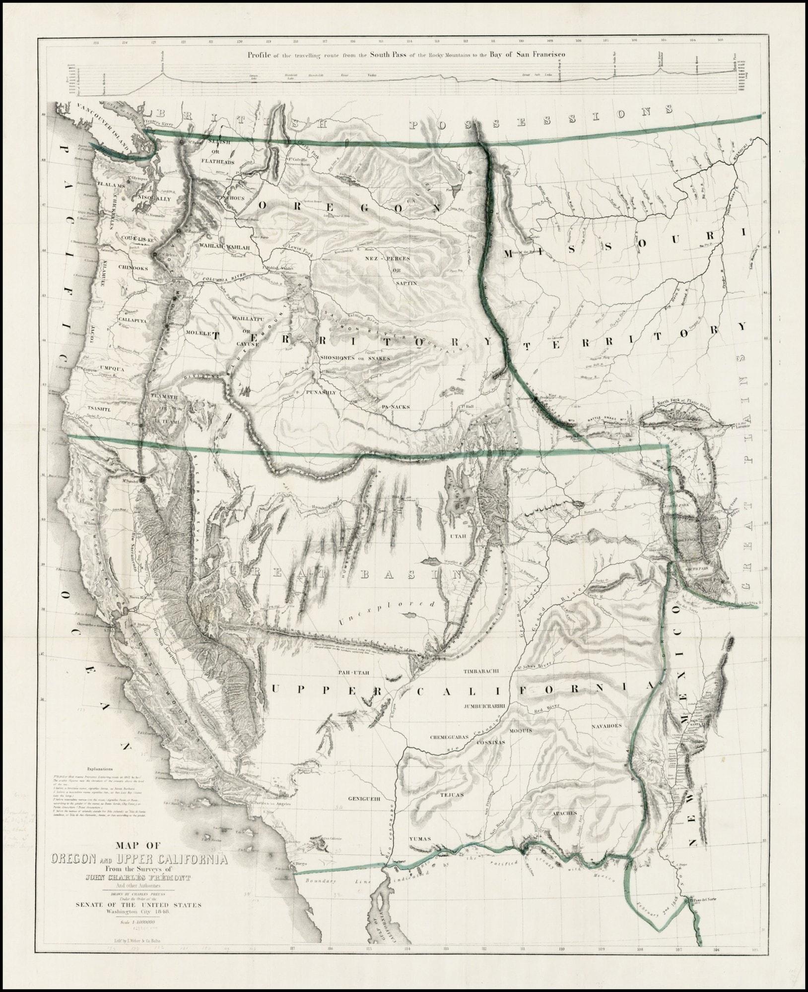 A Classic California Gold Rush Map - Rare & Antique Maps - California Gold Rush Map