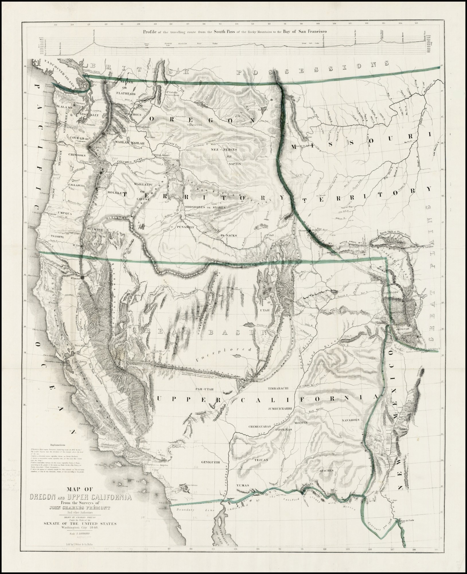 A Classic California Gold Rush Map - Rare & Antique Maps - Gold In California Map