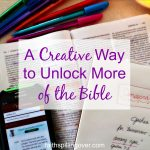 A Creative Way To Unlock More Of The Bible   Faith Spilling Over   Verse Mapping Printable