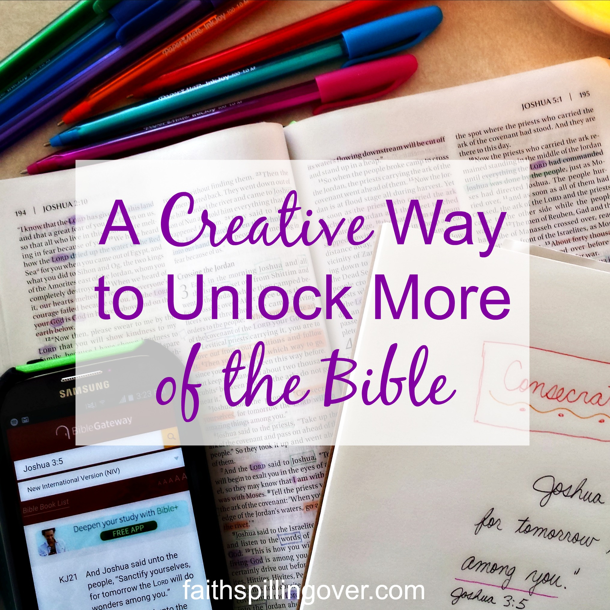 A Creative Way To Unlock More Of The Bible - Faith Spilling Over - Verse Mapping Printable