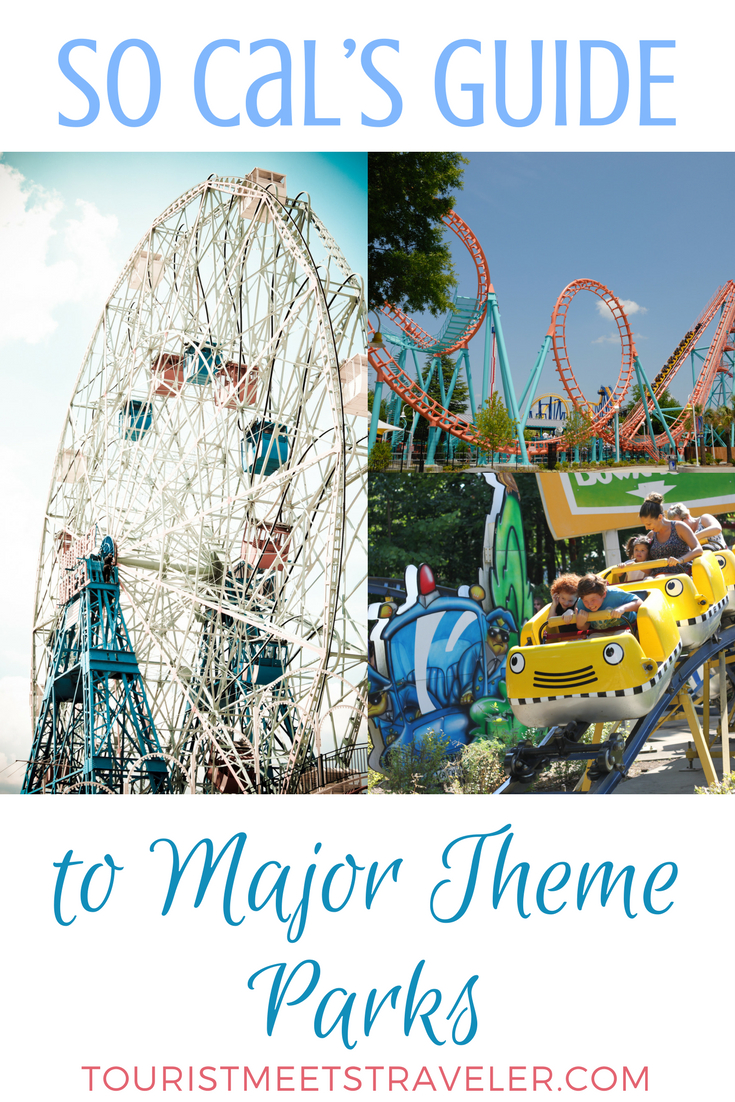 A Guide To Southern California's Major Theme Parks - Tourist Meets - Southern California Amusement Parks Map