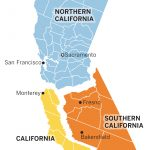 A Look At How Splitting California Into Three Separate States Might   New California Map 3 States
