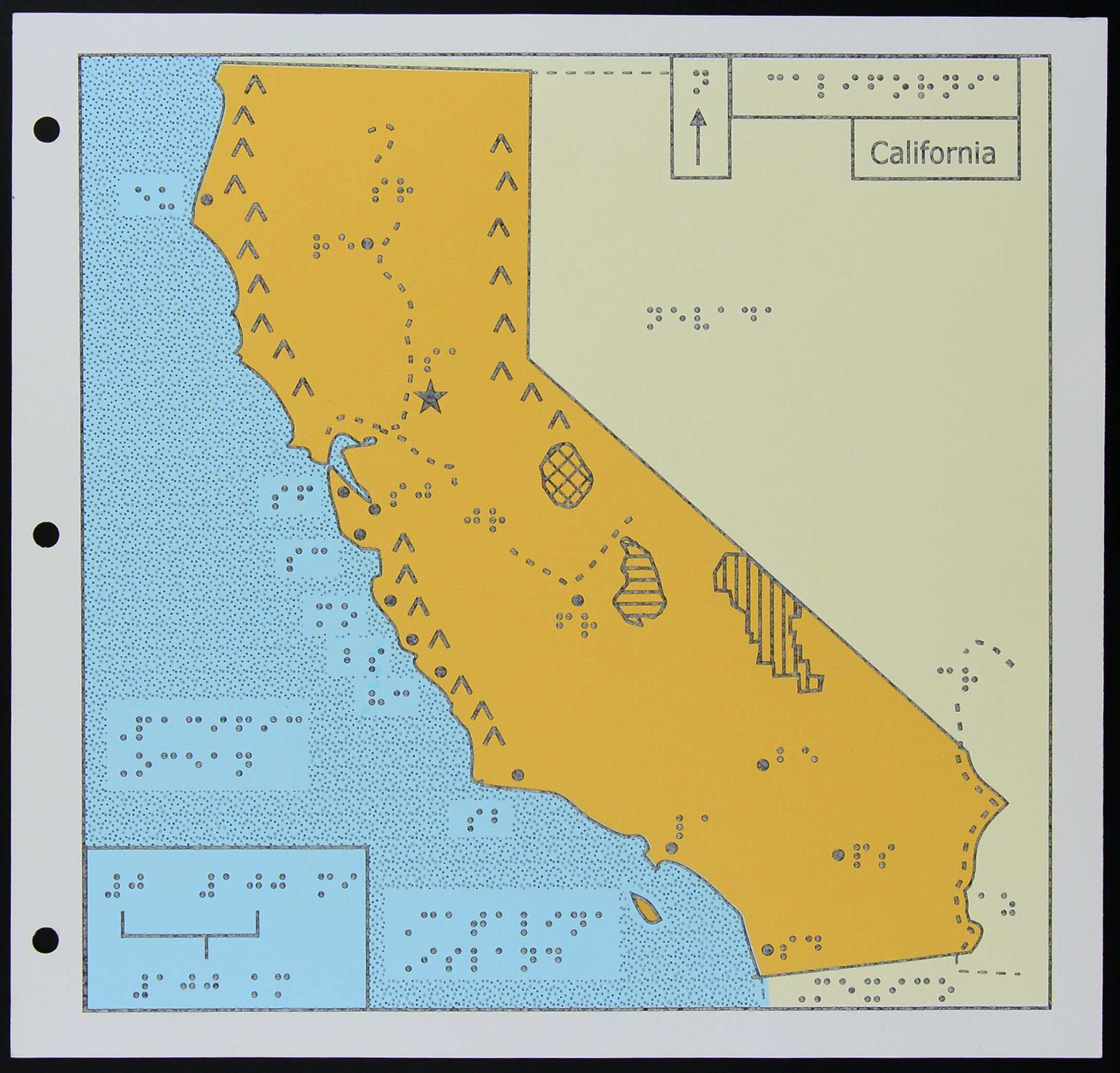 A Map Of California For The Blind | Kcet - Map Of California