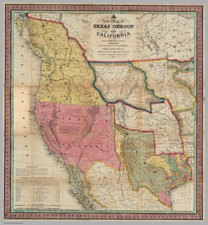Oregon California Map