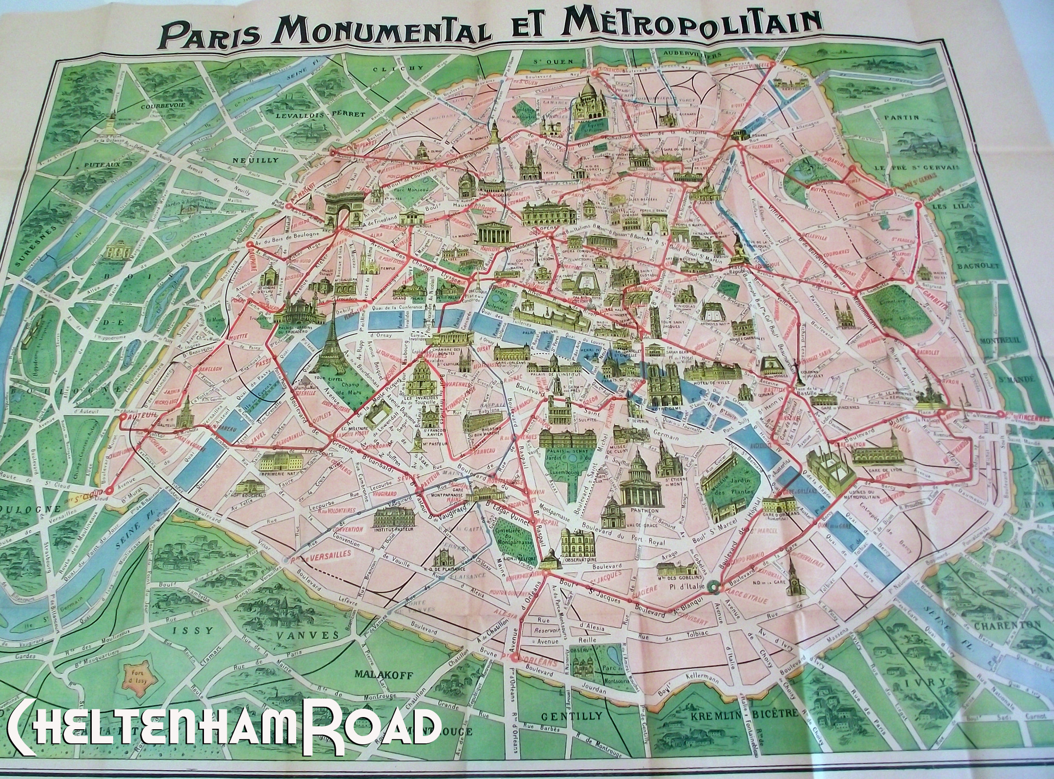 A Trip To Paris….in 1918 With Free Printable Downloads – Cheltenham Road - Free Printable Map Of Paris