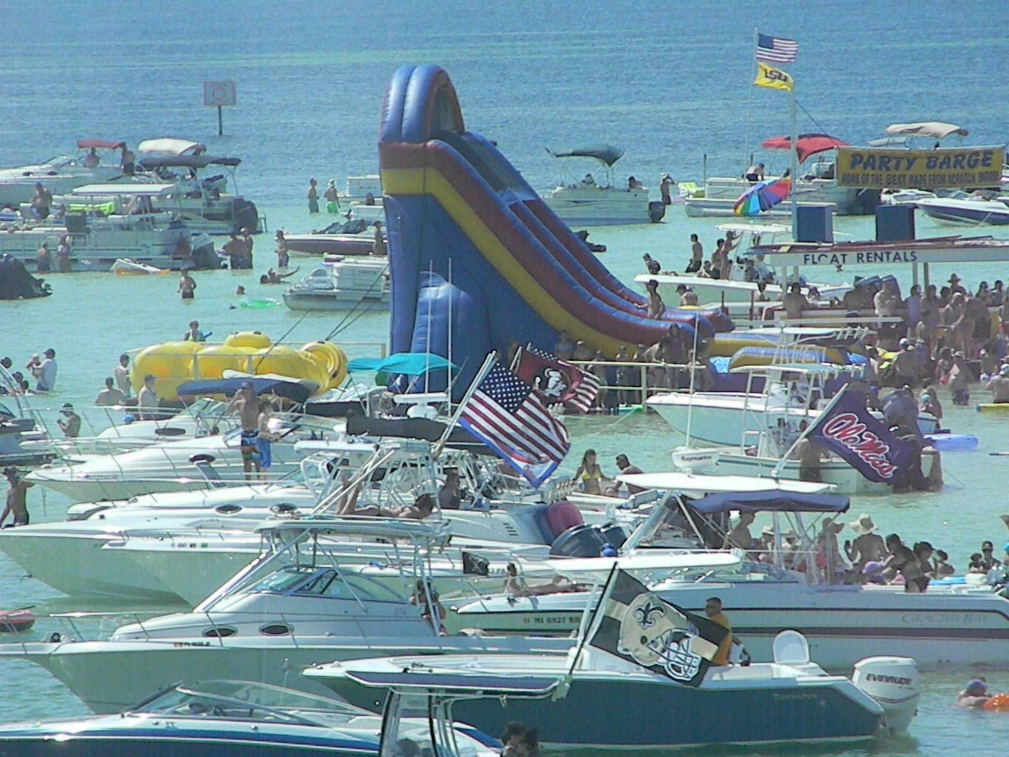 A Very Crowded Crab Island Destin, Florida | Panhandle Paradise - Crab Island Destin Florida Map