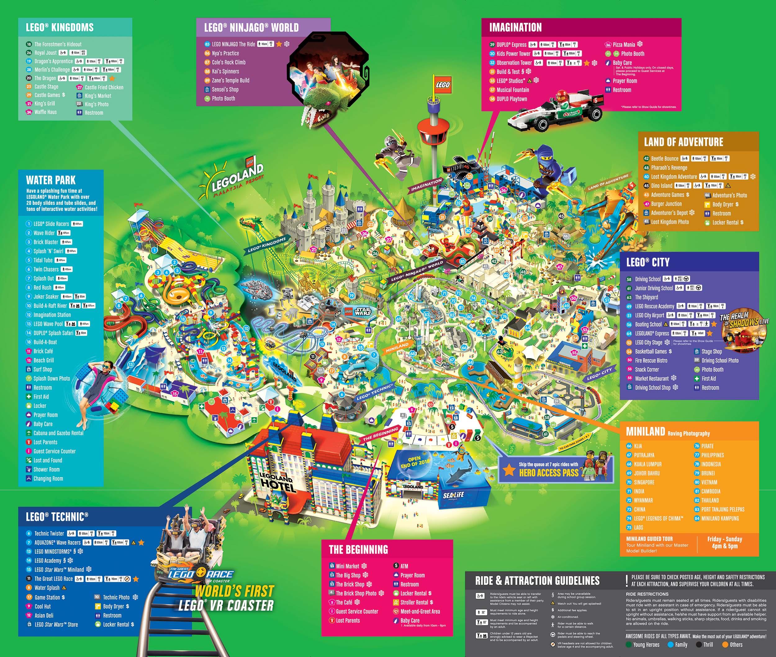 About Legoland® Malaysia Resort | Legoland® Malaysia Resort - Legoland Map California Pdf
