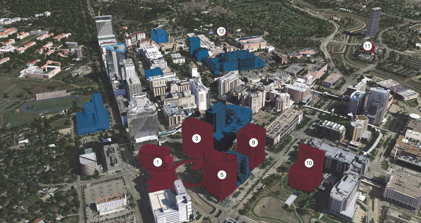 About Map   W. S. Bellows Construction Corporation - Texas Medical Center Map