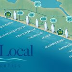About The Communities Of 30 A Florida   Blue Mountain Beach Florida Map