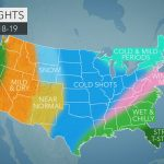 Accuweather's Us Winter Forecast For 2018 2019 Season   Florida Weather Forecast Map