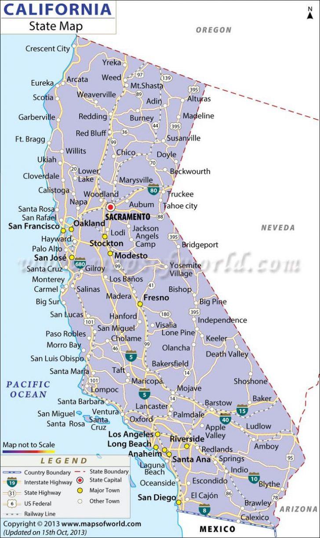 California Vacation Map