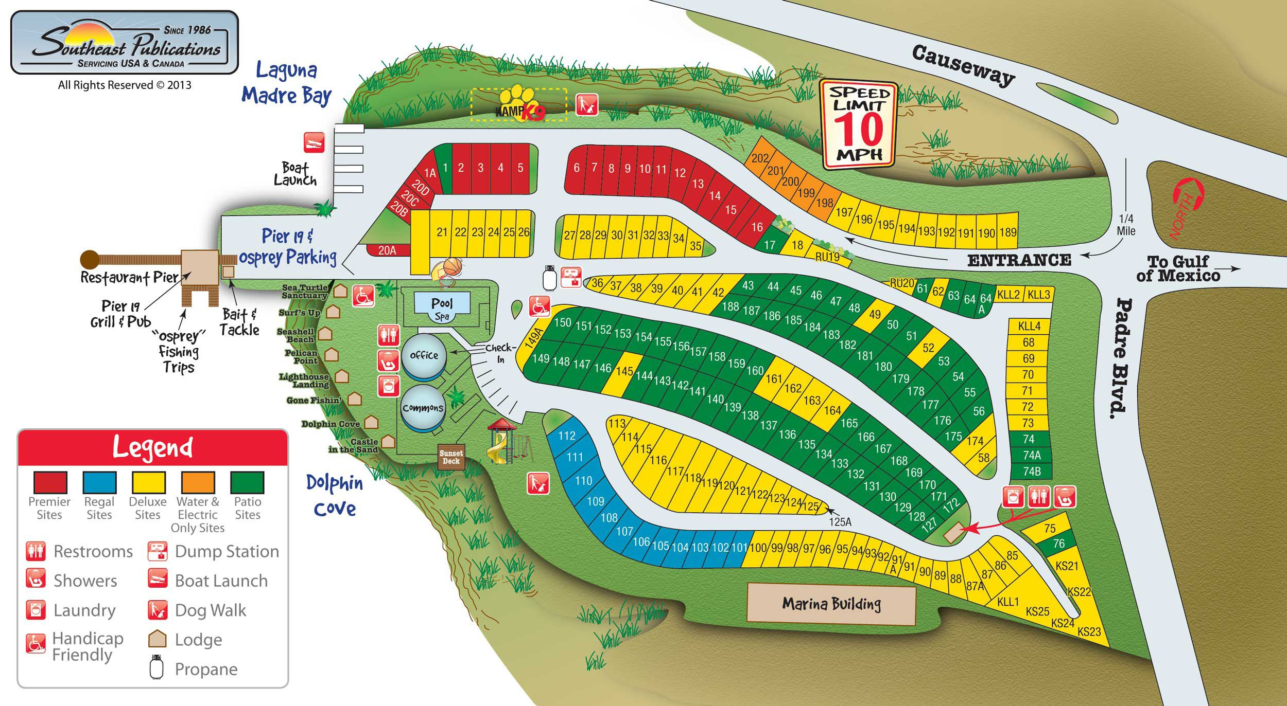 Activities, Attractions And Events For The South Padre Island Koa Rv - South Texas Rv Parks Map