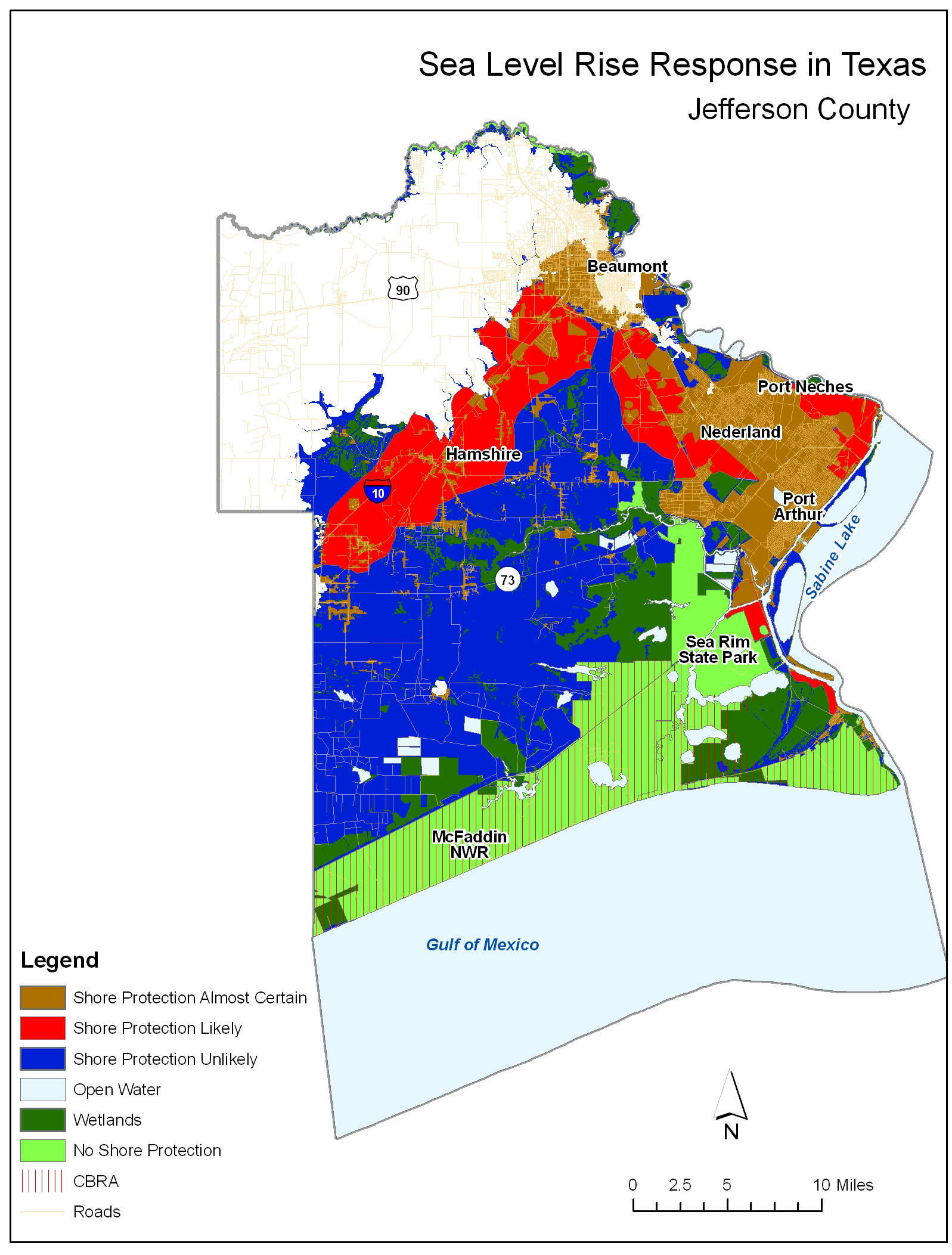 Adapting To Global Warming - Jefferson County Texas Map