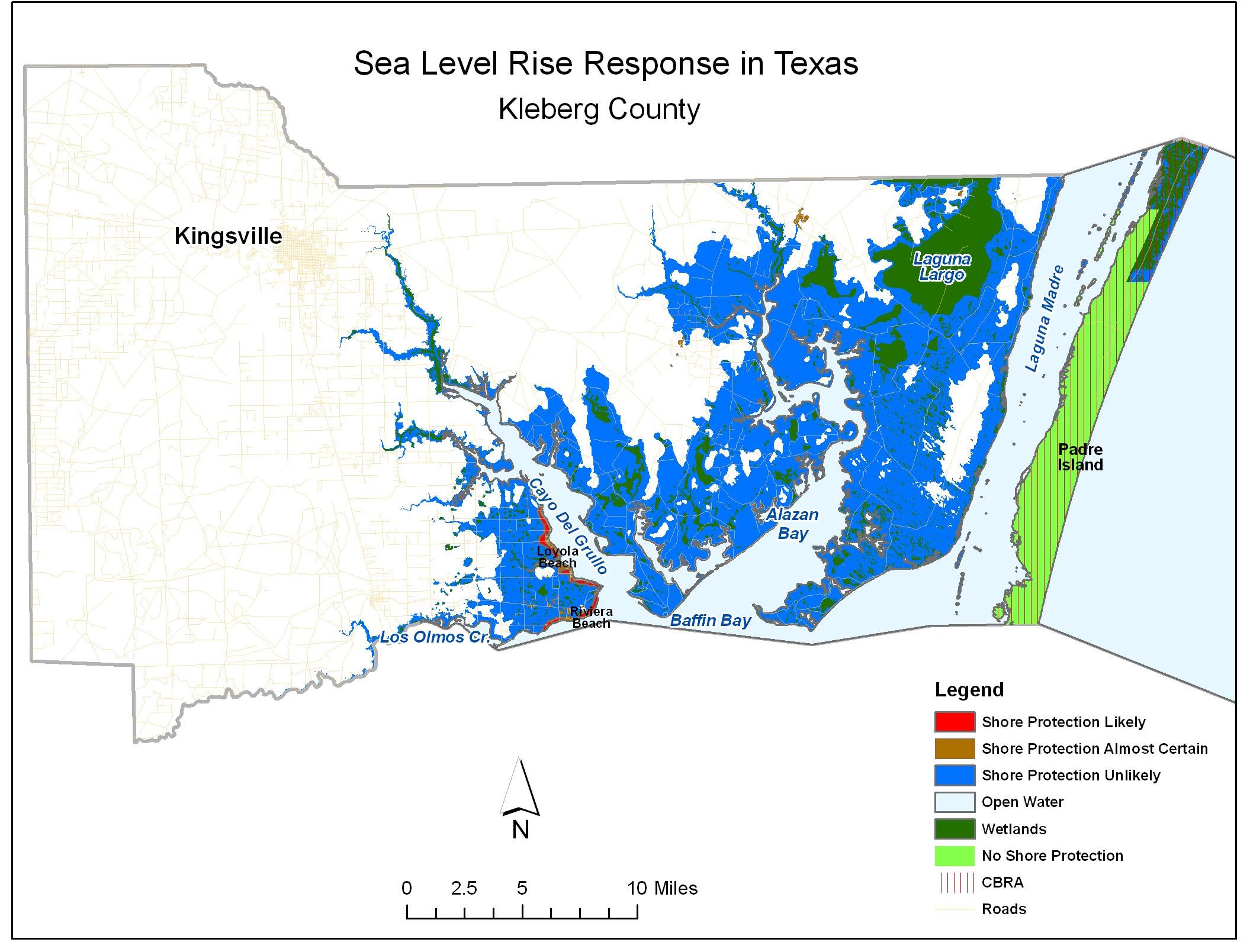 Adapting To Global Warming - Padre Island Texas Map