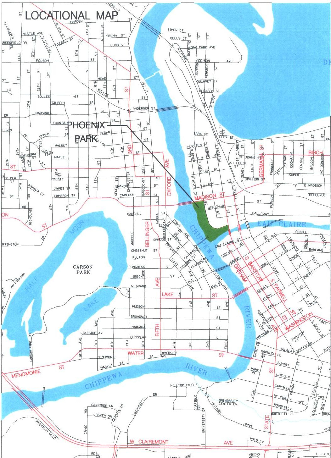Additional Business Resources | The City Of Eau Claire Economic - Printable Map Of Downtown Madison Wi