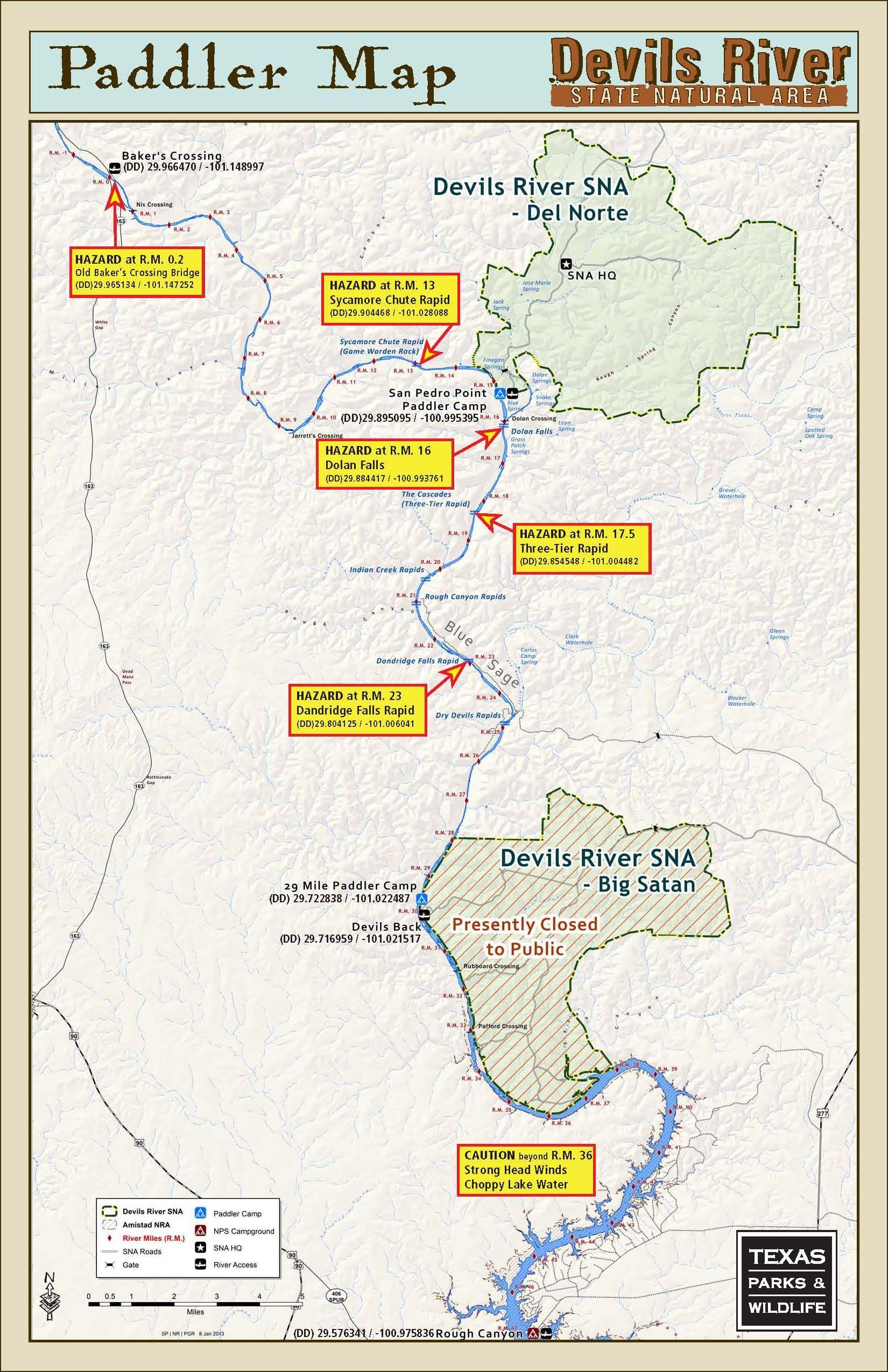 Advanced 3 Day Paddling Trip Down Devil's River In Texas.   Kayaking - Texas Kayak Fishing Maps