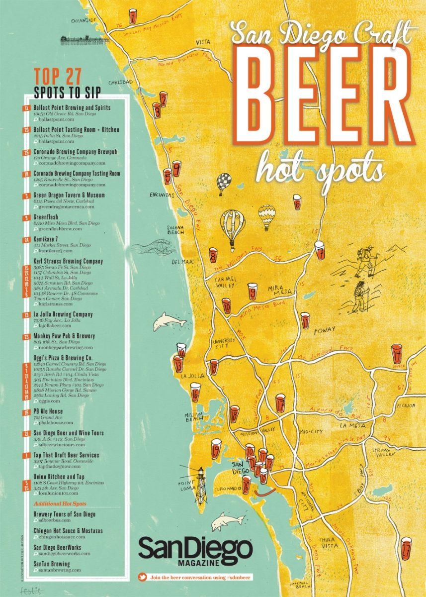 Aedead Maps Of California Southern California Brewery Map - Klipy - California Brewery Map