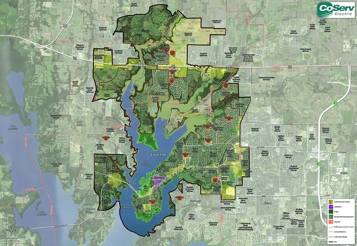 Aerial Map/location – Little Elm Economic Development Corporation - Google Maps Denton Texas