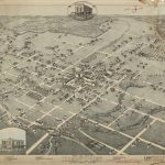 Aerial Map Of Denton, Texas (1883) : Mapporn   Aerial Map Of Texas