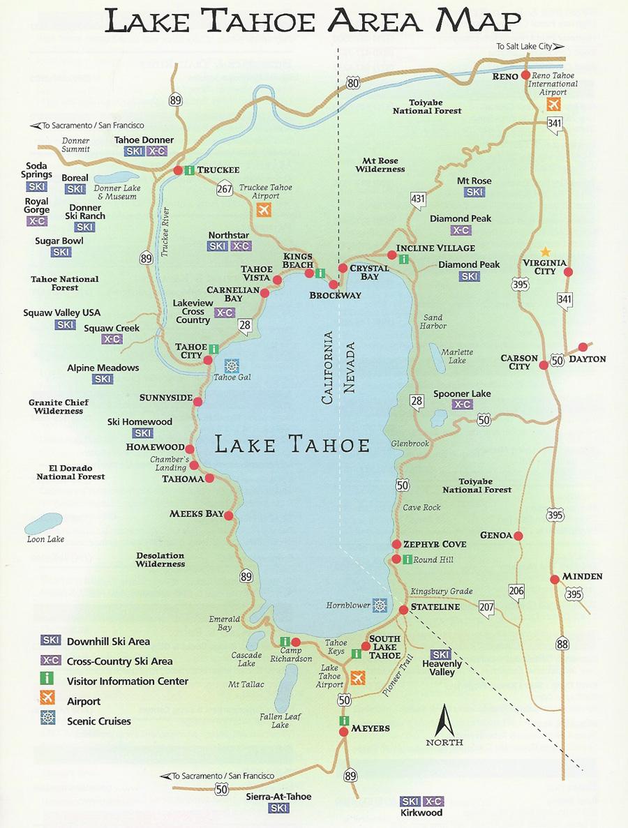 Agate Bay Properties | Area Map | North Lake Tahoe, Ca - Map Of Lake Tahoe Area California
