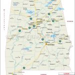 Alabama In Us Map And Travel Information | Download Free Alabama In   Us Map Of Alabama And Florida