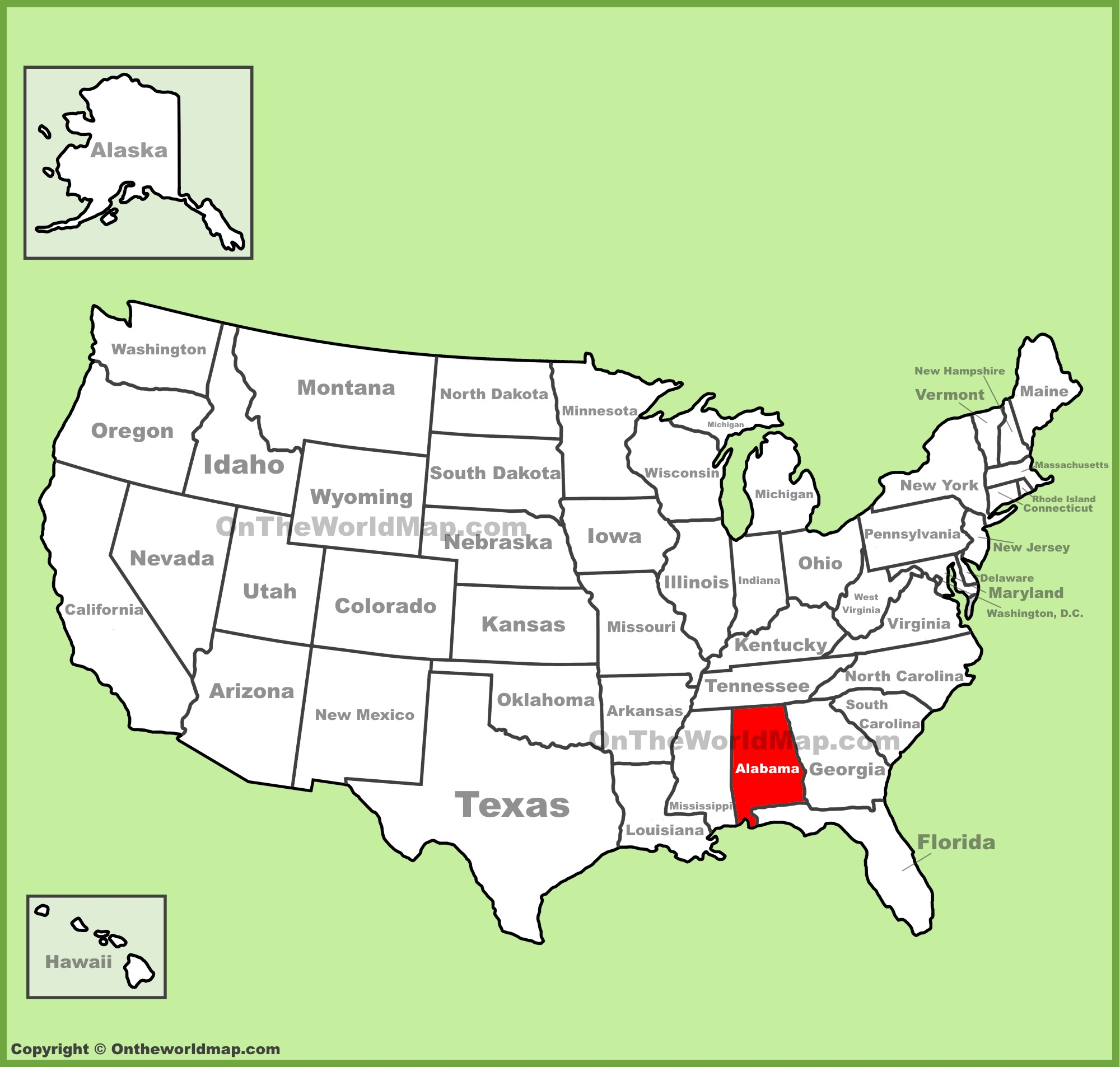 Alabama State Maps | Usa | Maps Of Alabama (Al) - Map Of Alabama And Florida