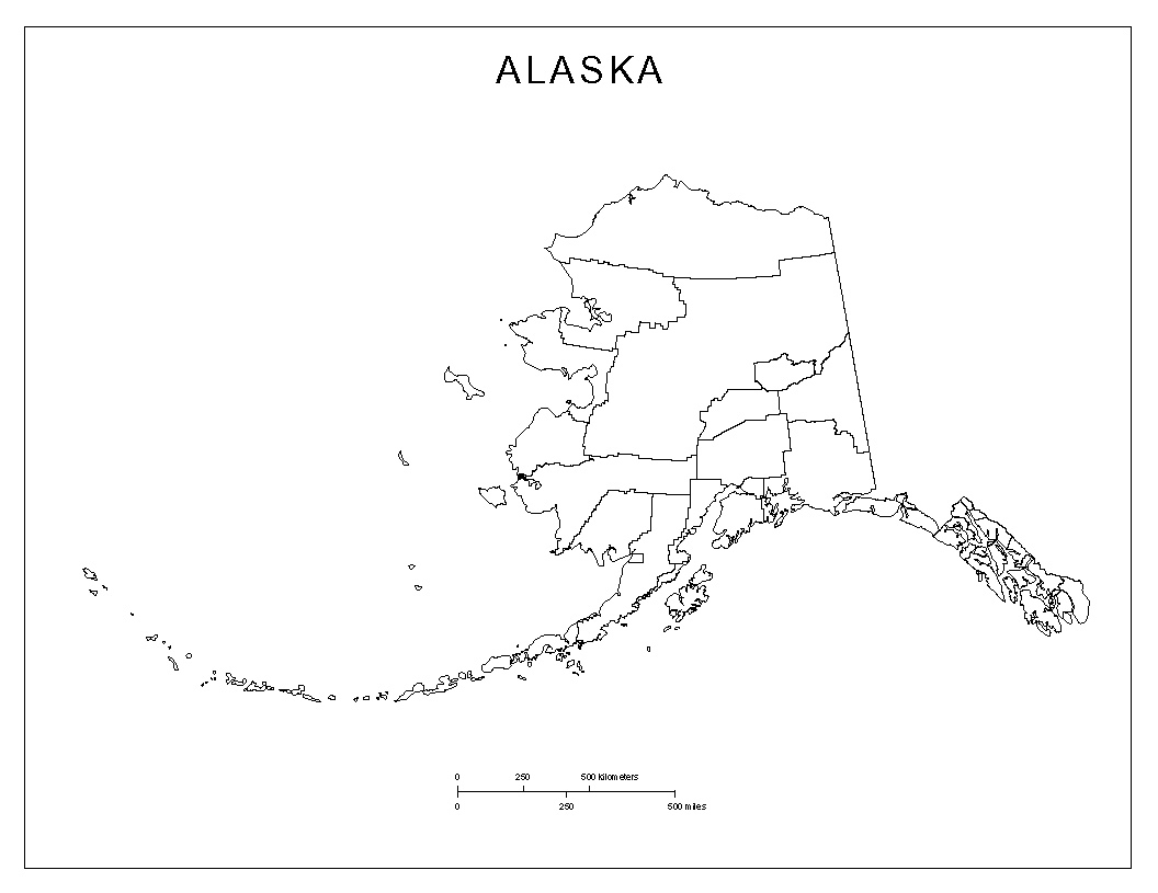 Alaska Blank Map - Printable Map Of Alaska