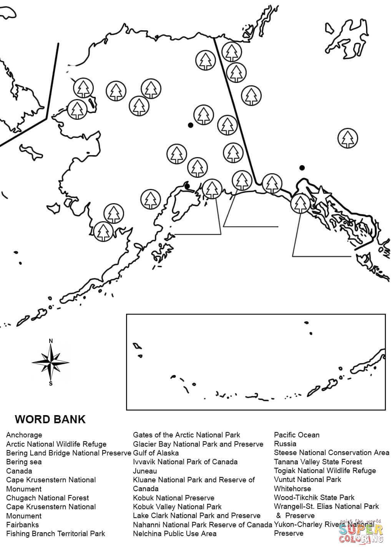 Alaska Map Worksheet Coloring Page   Free Printable Coloring Pages - Free Printable Map Of Alaska