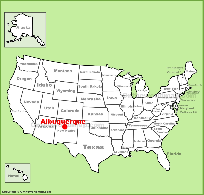 Albuquerque Location On The U.s. Map - Printable Map Of Albuquerque