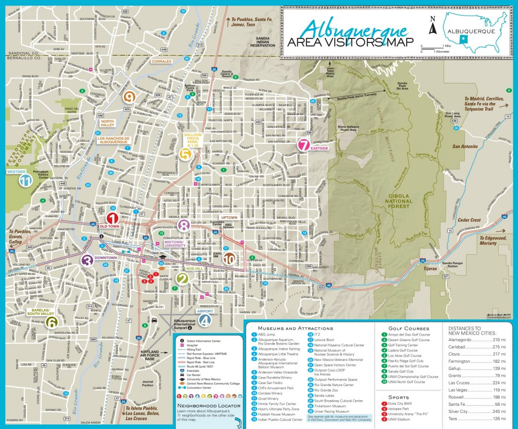picture about Printable Map of New Mexico named Albuquerque Maps Fresh Mexico, U.s. Maps Of Albuquerque