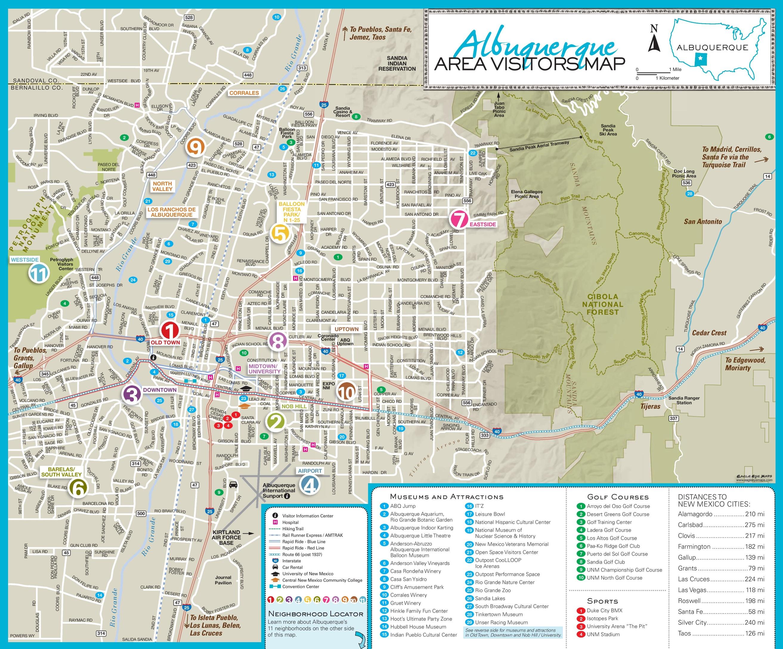 Albuquerque Maps | New Mexico, U.s. | Maps Of Albuquerque - Printable Map Of Albuquerque