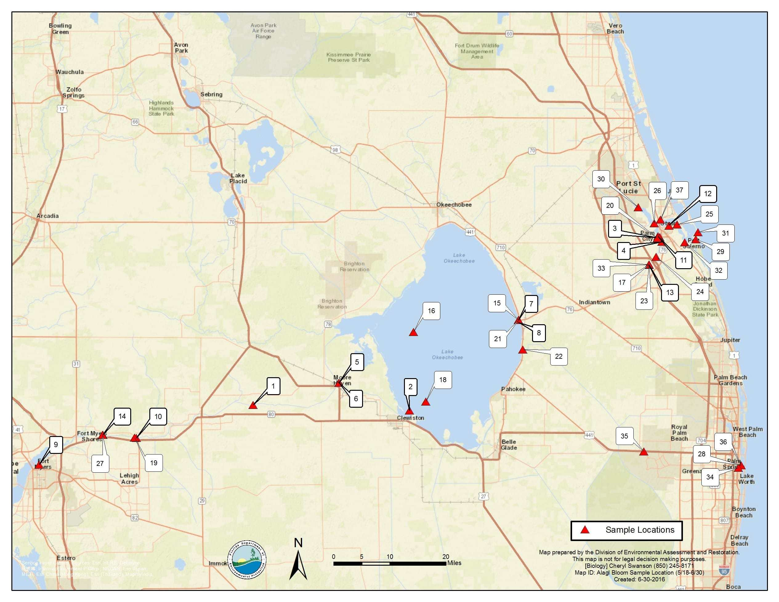 Algal Bloom Report | Florida Fishing Report | Page 31 - Toxic Algae In Florida Map